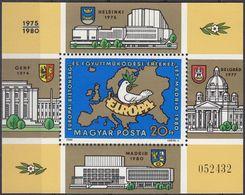 UNGHERIA - 1980 - Foglietto Dentellato Nuovo MNH E Numerato; Yvert 151. - Blocchi & Foglietti