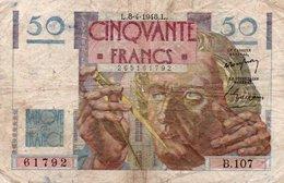 FRANCIA 50 FRANCS 1948  P-127 - 1871-1952 Circulated During XXth