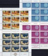 Kunst CEPT 1975 Jugoslawien 1379/0+1598/9 KB II ** 59€ EUROPA 1970 Sonne Grazie Art Sheets Sheetlets Bf YUGOSLAVIJA - Europa-CEPT