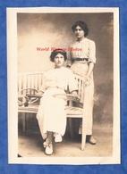 CPA Photo - BAR LE DUC Ou Environs - Portrait Jeanne FRAIZIER & Marguerite MARGUERIE - 1912 - Tennis Raquette Mode Robe - Fashion