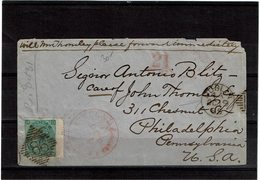 CTN54B- LETTRE DUBLIN / PHILADELPHIA  19/10/1865 - 1840-1901 (Victoria)