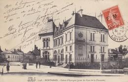 45. MONTARGIS. CPA . CAISSE D'EPARGNE. ANNÉE 1911 + TEXTE - Montargis