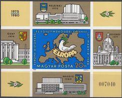 UNGHERIA - 1980 - Foglietto NON Dentellato Nuovo MNH E Numerato; Yvert 151. - Blocchi & Foglietti