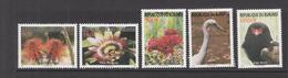 2008 Burundi Flowers And Birds Fleurs Oiseaux  Complete Set Of 5 MNH - Burundi
