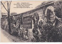Paris - Cimetiére Du Pére-Lachaise - Le Mur Des Fédérés - Andere