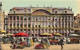 BRUXELLES - La Grand'Place Et Marché Aux Fleurs - Marktpleinen, Pleinen