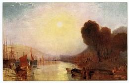 ARTIST : TURNER - SHIPPING IN THE MEDWAY (TUCK'S OILETTE) - 1900-1949