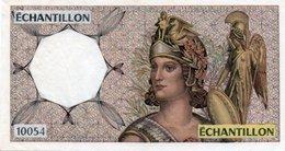 FRANCIA ECHANTILLON FRANCS 10054-TEST NOTE AUNC - Specimen