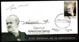COLOMBIA- KOLUMBIEN- 2009 FDC/SPD. GUILLERMO LEON VALENCIA, COLOMBIAN PRESIDENT. - Colombie