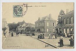 BEAUMESNIL : Place Du Marché  - Coll E.P. Cl. G. Hébert - Beaumesnil