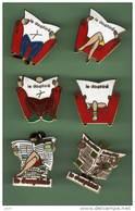 LE DAUPHINE *** Lot De 6 Pin's Differents *** 0085 - Medien
