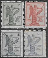 Italia Italy 1921 Regno Vittoria Sa N.119-122 Completa Nuova MH * - Nuovi