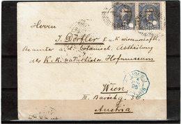 CTN54B- PARAGUAY LETTRE ASUNCION(?) / WIEN JUIN 1895 LIGNE J PAQ FR N°5 - Paraguay