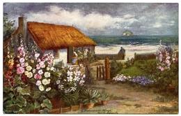 ARTIST CARD - A FISHERMAN'S COTTAGE, NORTH BERWICK (TUCK'S OILETTE) - Other Illustrators