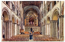 ARTIST : CHARLES FLOWER - ROCHESTER CATHEDRAL, THE NAVE, EAST (TUCK'S OILETTE) - Other Illustrators