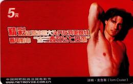 TARJETA TELEFONICA DE CHINA. CINE, TOM CRUISE (119) - Cine
