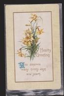 General Greetings - Hearty Greetings Flowers - Used 1912 - Embossed - Greetings From...