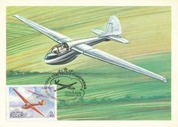 Segelflugzeuge - UdSSR - 1983 , 5 MC , Maximumkarten - Flugzeuge