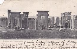 RUINES PERSEPOLIS. RODER IMP. CIRCULEE 1920 A LONDON. RARE- BLEUP - Iran
