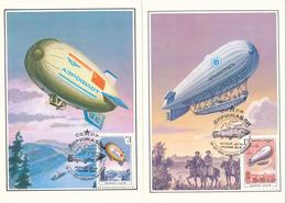 Zeppeline / Luftschiffe - UdSSR - 1991 , 5 MC , Maximumkarten - Zeppeline