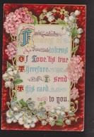 General Greetings - Flowers & Verse - Used - Embossed - Greetings From...