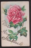 General Greetings - Rose Name In Glitter - Used - Embossed - Greetings From...