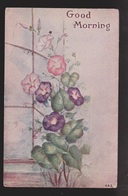 General Greetings - Good Morning Flowers - Used 1912 - Large Creases - Greetings From...