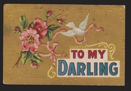 General Greetings - To My Darling Flowers & Dove - Used - Toning Spots - Greetings From...