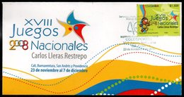 COLOMBIA- KOLUMBIEN- 2008 FDC/SPD. XVII NATIONAL GAMES. - Colombia