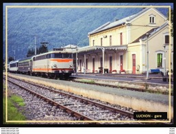 31  LUCHON    ...  La Gare Interieure Avec Train - Luchon