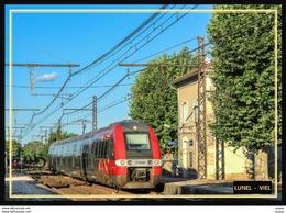 34  LUNEL - VIEL    ...Train En Gare De Lunel - Lunel