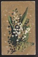 General Greetings - Flowers - Used 1908 - Corner Creases - Greetings From...