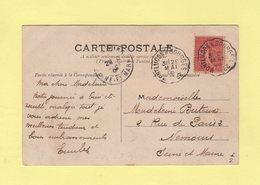 Convoyeur - Montlucon A Bourges 2° - 1906 - Cpa De Montlucon - Storia Postale