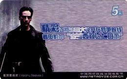 TARJETA TELEFONICA DE CHINA. CINE, KEANU REEVES (132) - Cinéma