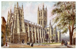ATTENDANCE CARD : ERITH BOYS' SCHOOL / ARTIST - CHARLES FLOWER - CANTERBURY CATHEDRAL (TUCK'S OILETTE) - Other Illustrators