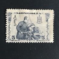 ◆◆MONGOLIA  1932 Weaver At Loom  5m Indigo 656 - Mongolia