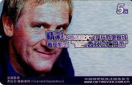 TARJETA DE FUNCIONAL DE CHINA. ACCESO TV - TV ACCESS. CINE, GERARD DEPARDIEU (136) - Otros