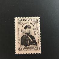 ◆◆MONGOLIA  1932 Weaver At Loom  40m Gray Black   663 - Mongolia