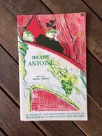 Fascicule  Du THEATRE ANTOINE Année 1959 Pièce VU DU PONT Arthur Miller Marcel Aymé Peter Brook ( Avec Pubs ) - Théâtre