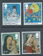 GROSBRITANNIEN GRANDE BRETAGNE GB 2017 CHRISTMAS SET 4v SG 4006+4008+4014+4016 USED - 1952-.... (Elizabeth II)