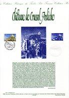 """"""" CHATEAU DE CRUSSOL ARDECHE """" Sur Document Philatélique Officiel De 1998  N° YT 3169. Parfait état. - Châteaux"""