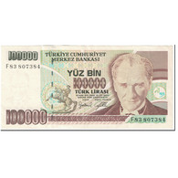 Billet, Turquie, 100,000 Lira, 1997-2001, Undated(1997-2001), KM:206, SPL - Turquie