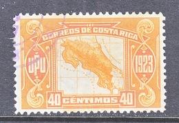 COSTA  RICA 126   (o)   MAP - Costa Rica