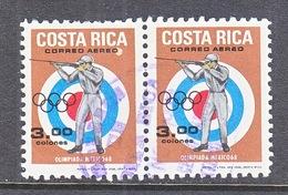 COSTA  RICA C 487 X 2   (o)   OLYMPICS 68   SHOOTING - Costa Rica
