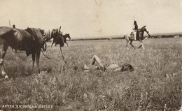 After An Indian Battle - Native Americans