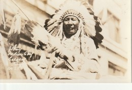 Stoney Indian Chief Calgary Stampede  R P P C - Native Americans