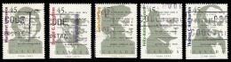 Canada (Scott No.1622-26 - Auteurs Canadiens / Canadian Authors) (o) Série / Set - 1952-.... Règne D'Elizabeth II