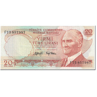 Billet, Turquie, 20 Lira, 1979-87, Undated(1979-87), KM:187a, SUP - Turquie