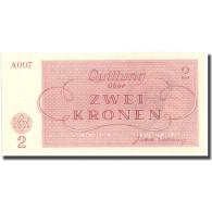 Billet, Tchécoslovaquie, 2 Kronen, Personnage, 1943, 1943-01-01, NEUF - Tchécoslovaquie