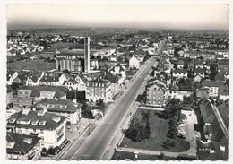 CPSM - SAINT LOUIS (Haut Rhin) - En Avion Au Dessus De ... La Rue De Bâle Et L'Eglise N.D. De La Paix - Saint Louis